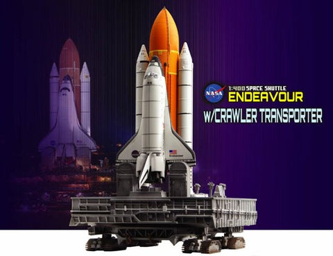 Dragon Space 1/400 NASA: Space Shuttle Endeavour w/Crawler Transporter (Assembled Die Cast)