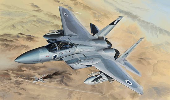 Lion Roar Aircraft 1/48 F15B/D USAF & Israeli Tactical Fighter (2 in 1) (Plastic Kit)