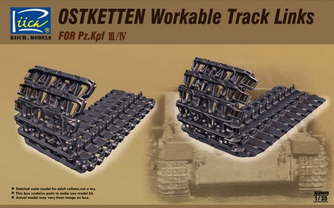 Riich Military 1/35 Ostketten Workable Track Links for Pz.Kpf III/IV Kit