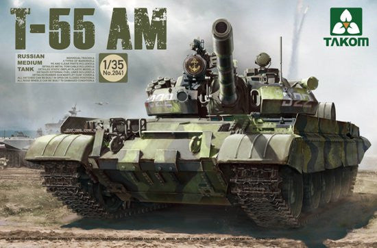 Takom Military 1/35 Russian Medium Tank T-55 AM Kit
