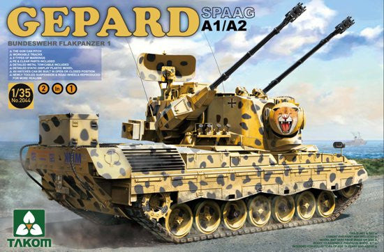 Takom Military 1/35 Bundeswehr Flakpanzer1 Gepard SPAAG A1/A2 (2 in 1) Kit