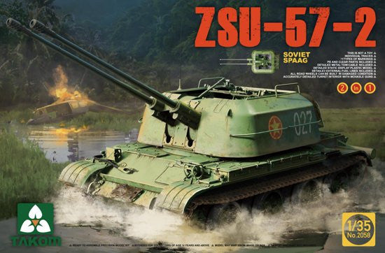 Takom Military 1/35 Soviet SPAAG ZSU-57-2 (2 in 1) Kit