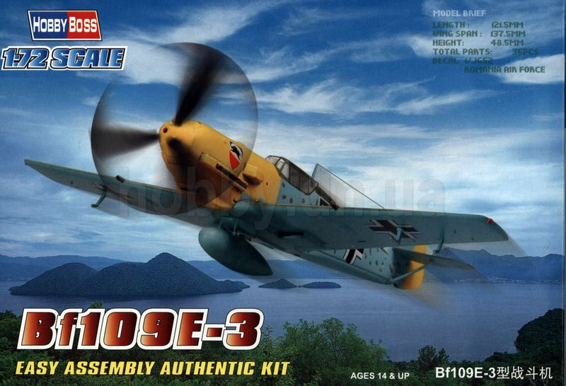 Hobbyboss 80253-1:72 Bf109E-3 Fighter Neu