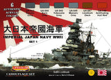 Lifecolor Acrylic Imperial Japan Navy WWII Set #1 Acrylic Set (6 22ml Bottles)
