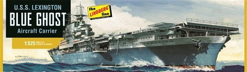 Lindberg Model Ships 1/525 USS Lexington Blue Ghost Aircraft Carrier Kit