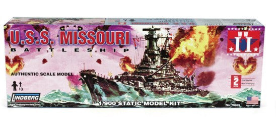 Lindberg Model Ships 1/900 USS Missouri Battleship Kit