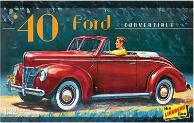 Lindberg Model Cars 1/32 1940 Ford Convertible Car Kit