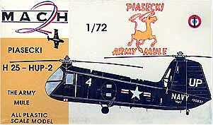 Mach-2 Aircraft 1/72 Piasecki H25HUP2 Army Mule Helicopter Kit