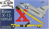 Mach-2 Aircraft 1/72 Ryan X13 Vertijet w/Transport Trailer Kit