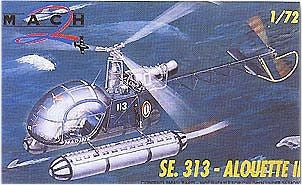 Mach-2 Aircraft 1/72 SE313 Alouette II Helicopter Kit