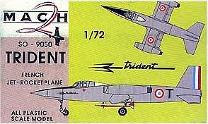 Mach-2 Aircraft 1/72 Trident SO9050 French Jet Kit
