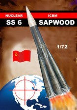 Mach 2 Space 1/72 SS6 Sapwood Russian Nuclear Intercontinental Ballistic Missle Kit