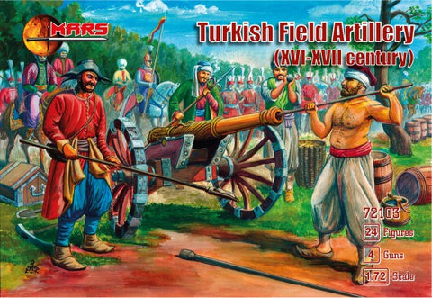 Mars Military 1/72 XVI-XVII Century Turkish Field Artillery (24 w/4 guns)