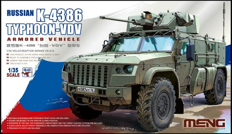 Meng Military 1/35 Russian K4386 Typhoon-VDV Armored Vehicle Kit