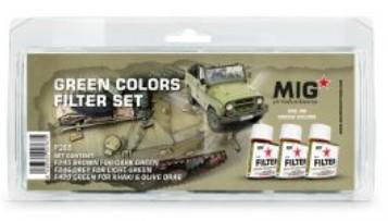 MIG Enamel Green Colors Filter Set