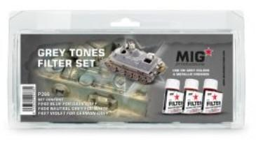 MIG Enamel Grey Tones Filter Set