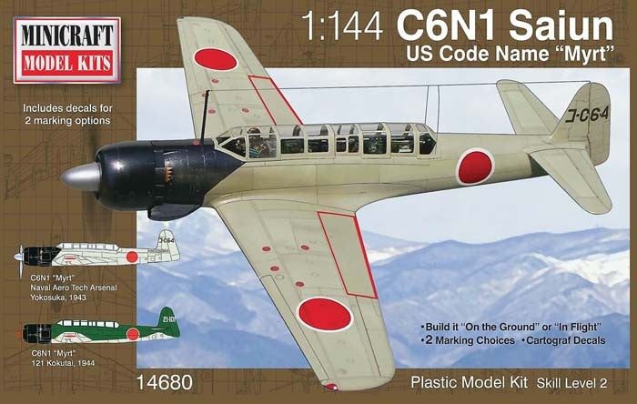 Minicraft Model Aircraft 1/144 C6N1 Saiun Myrt IJA Recon Aircraft Kit