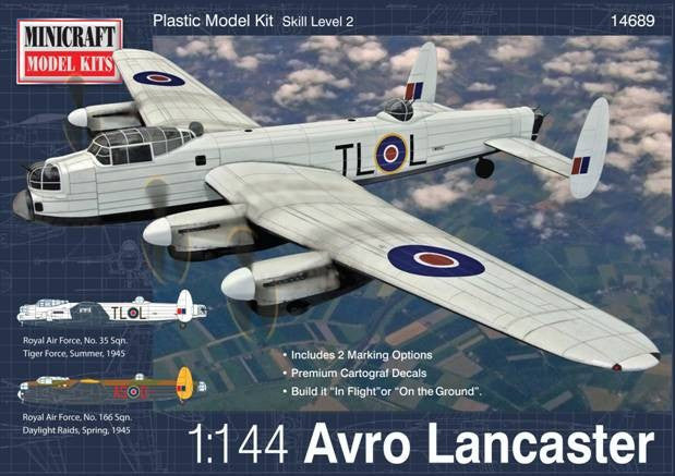 Minicraft Model Aircraft 1/144 Avro Lancaster Aircraft Kit