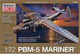 Minicraft Model Aircraft 1/72 PBM5 Mariner USN Aircraft Post War (New Tool) Kit
