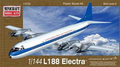 Minicraft Model Aircraft 1/144 L188 Electra US Turbo-Prop Airliner Kit