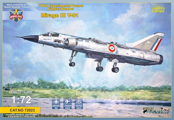 Modelsvit Aircraft 1/72 Mirage III V01 (French VT0L) Experimental Fighter/Bomber Ltd. Edition Kit