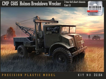 Mirror Models Military 1/35 CMP C60S Cab 13 3-Ton 4x4 Short Chassis Holmes Breakdown Wreacker (New Tool) Kit