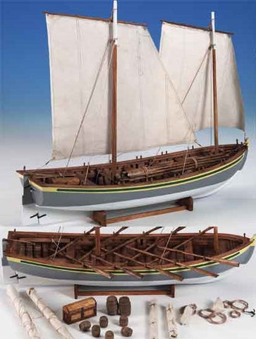 Model Shipways 1/16 HMS Bounty Launch Wooden Kit