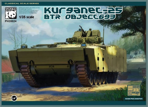 Panda Hobby Military 1/35 BTR Object 693 Kurganet-25 Russian Infantry Fighting Vehicle (New Tool) Kit