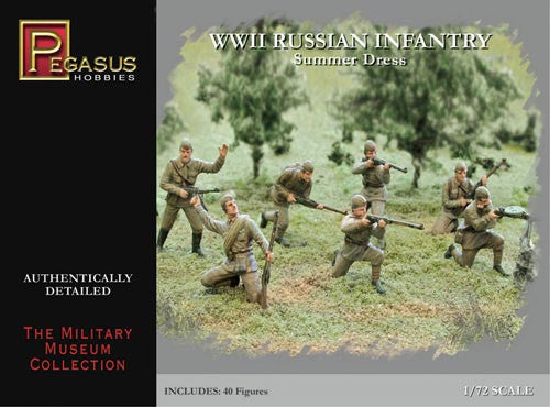 Pegasus Military 1/72 Russian Infantry Summer Dress WWII (40)