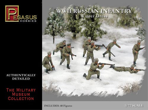 Pegasus Military 1/72 Russian Infantry Winter Dress WWII Set #1 (40)