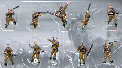 Pegasus Military 1/144 Russian Infantry WWII (10) (Painted)