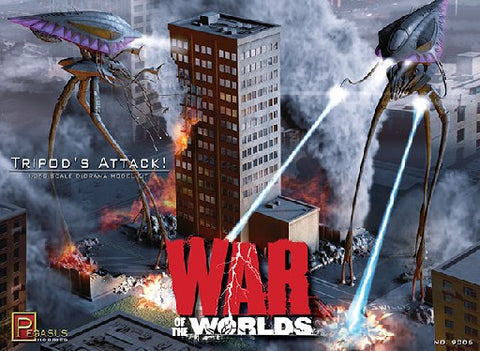 Pegasus Sci-Fi 1/350 War of the Worlds: Tripods Attack Diorama Kit