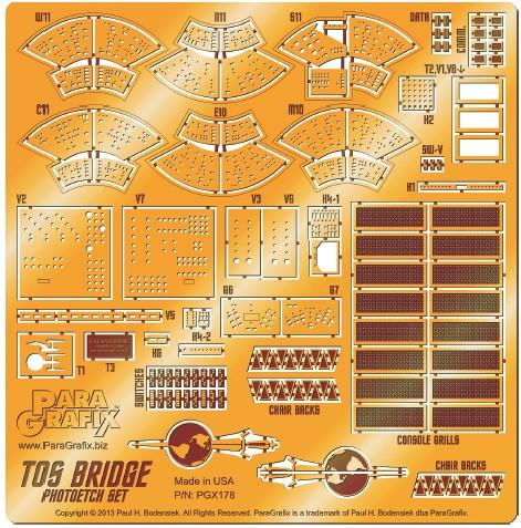 Paragraphix Details 1/32 Star Trek: USS Enterprise Bridge Photo-Etch Set for AMT