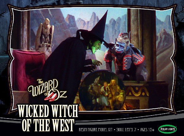 Polar Lights Sci-Fi The Wizard of Oz: Wicked Witch of the West w/Flying Monkey, Crystal Ball & Base Resin Kit