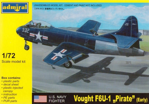 Admiral Models Aircraft 1/72 F6U1 Pirate Early USN Fighter Kit