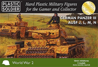 Plastic Soldier 15mm WWII German Panzer III Ausf J/L/M/N Tank (5) Kit