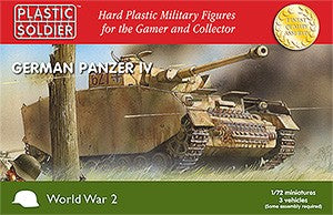 Plastic Soldier 1/72 WWII German Panzer IV Tank (3) Kit