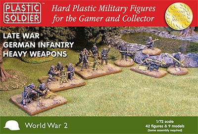 Plastic Soldier 1/72 Late WWII German Infantry (42) w/Heavy Weapons Kit