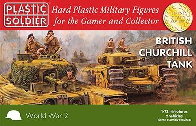 Plastic Soldier 1/72 WWII British Churchill Tank (2) Kit