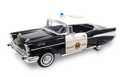 Road Legends 1/18 1957 Chevrolet Bel Air Police Car (Black)