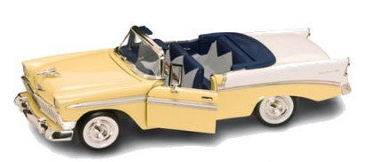 Road Legends 1/18 1956 Chevy Bel Air Convertible (Yellow)
