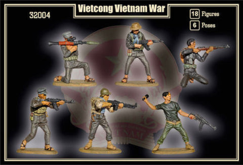 Mars Military 1/32 Vietcong Soldiers Vietnam War (18) Kit