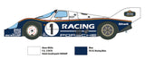 Italeri Model Cars 1/24 Porsche 956 #1 Race Car Kit