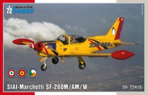 Special Hobby Aircraft 1/72 SIAI-Marchetti SF260M/AM/W Trainer Aircraft Kit