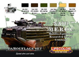 Lifecolor Acrylic NATO MERDC Camouflage Acrylic Set (6 22ml Bottles)