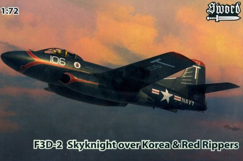 Sword Aircraft 1/72 F3D2 Skyknight Over Korea & Red Rippers Fighter Kit