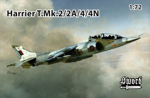 Sword Aircraft 1/72 Harrier T Mk2/2A/4/4N Jet Aircraft Kit