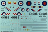 This is a plastic model assembly kit of the Sword Aircraft 1/48 British RAF EE Lightning T Mk 4 Fighter Kit