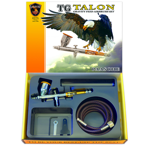 Paasche Talon Gravity Feed Airbrush Set