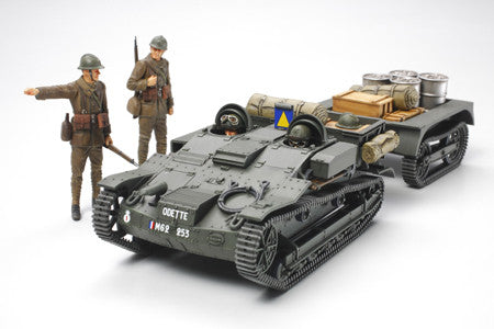 Tamiya Military 1/35 French Armored Carrier UE w/Trailer & Crew Kit